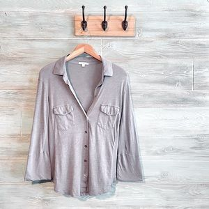 Standard James Perse Flare Sleeve Utility Shirt